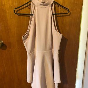Tobi backless halter - light pink dress